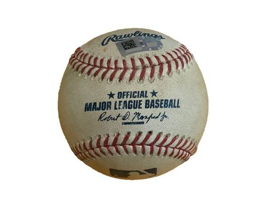 Photo of Game-Used Baseball from Pirates vs. Yankees on 4/21/17 - Warren to Cervelli, Foul