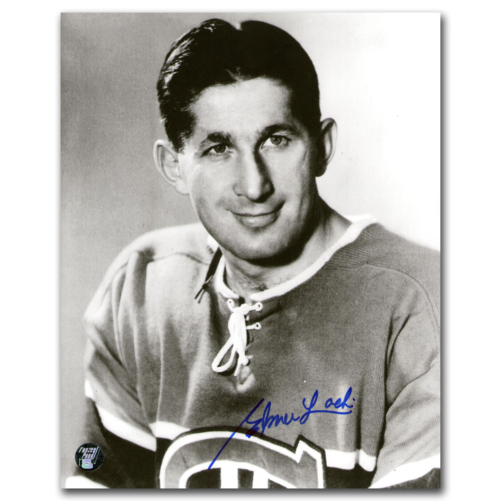 Elmer Lach (deceased) Autographed Montreal Canadiens 8X10 Photo