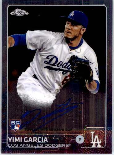Photo of 2015 Topps Chrome Rookie Autographs #ARYG Yimi Garcia