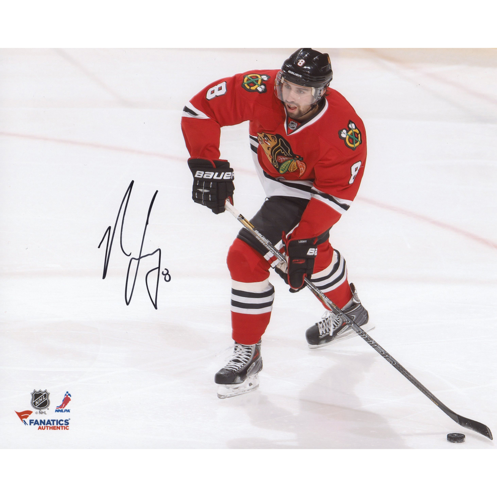 Nick Leddy Chicago Blackhawks Autographed 8