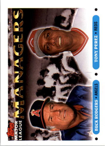 Photo of 1993 Topps #503 Buck Rodgers MG/Tony Perez MG