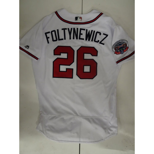Photo of Mike Foltynewicz Game-Used Jersey Worn on Opening Day at SunTrust Park - April 14, 2017