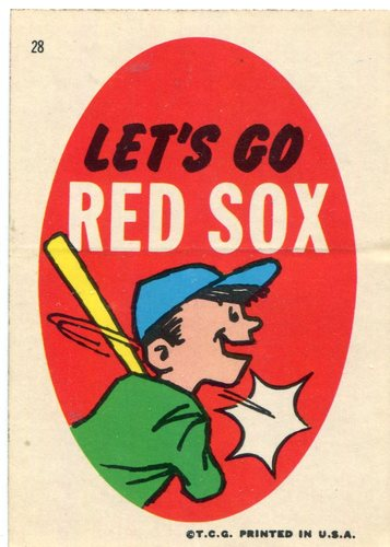 Photo of 1967 Red Sox Stickers Topps #28 Let's Go Red Sox