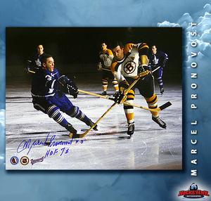 MARCEL PRONOVOST Signed Toronto Maple Leafs 8 X 10 Photo - 70487