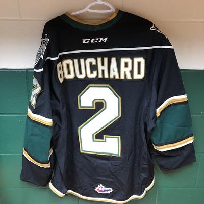 Evan Bouchard 2016-2017 Black Game Jersey