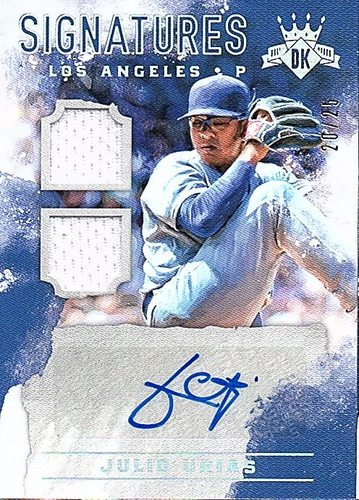 Photo of 2017 Diamond Kings DK Signatures Holo Silver #6 Julio Urias AUTO Jersey 20/25