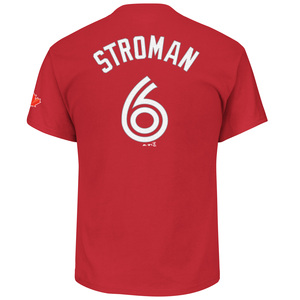 Marcus Stroman Player T-Shirt Red by Majestic