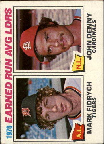 Photo of 1977 Topps #7 ERA Leaders/Mark Fidrych/John Denny