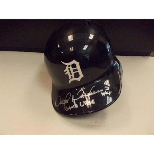 Photo of Autographed Game-Used Victor Martinez Home Batting Helmet