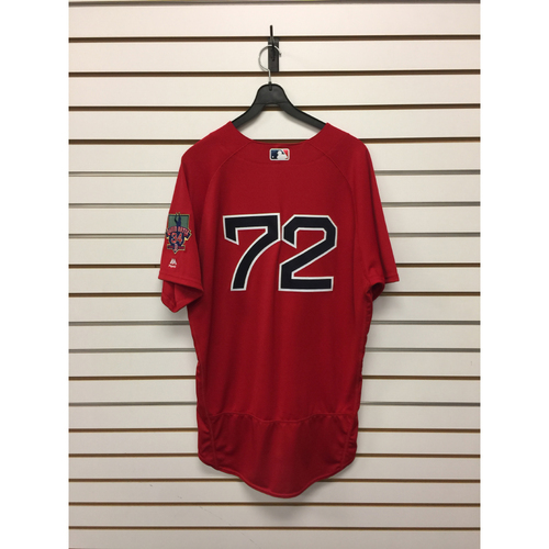 Robby Scott Game-Used September 30, 2016 Home Alternate Jersey with David Ortiz Final Season Patch