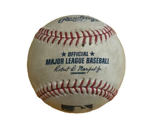 Photo of Game-Used Baseball from Pirates vs. Yankees on 4/22/17 - Clippard to Osuna, Foul