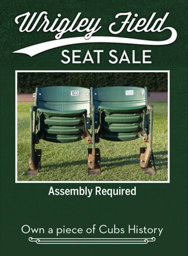 Wrigley Field Seat Sale -- Seat Set Removed During the 2017 Offseason (WILL NOT SHIP BEFORE HOLIDAYS)