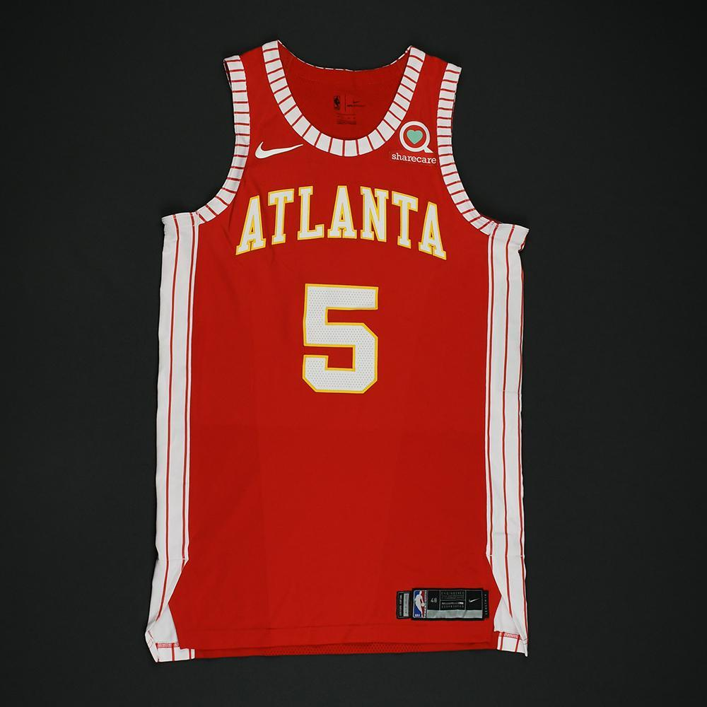Malcolm Delaney - Atlanta Hawks - Game-Issued Classic Edition 1970-72 Road Style Jersey - 2017-18 Season