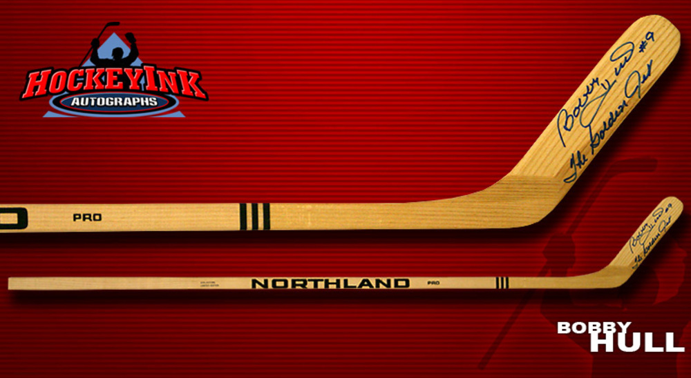 BOBBY HULL Signed Northland Player Model Stick - Chicago Blackhawks