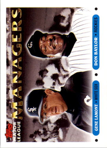 Photo of 1993 Topps #504 Gene Lamont MG/Don Baylor MG