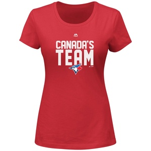 Women's Canada's Team T-Shirt Red by Majestic