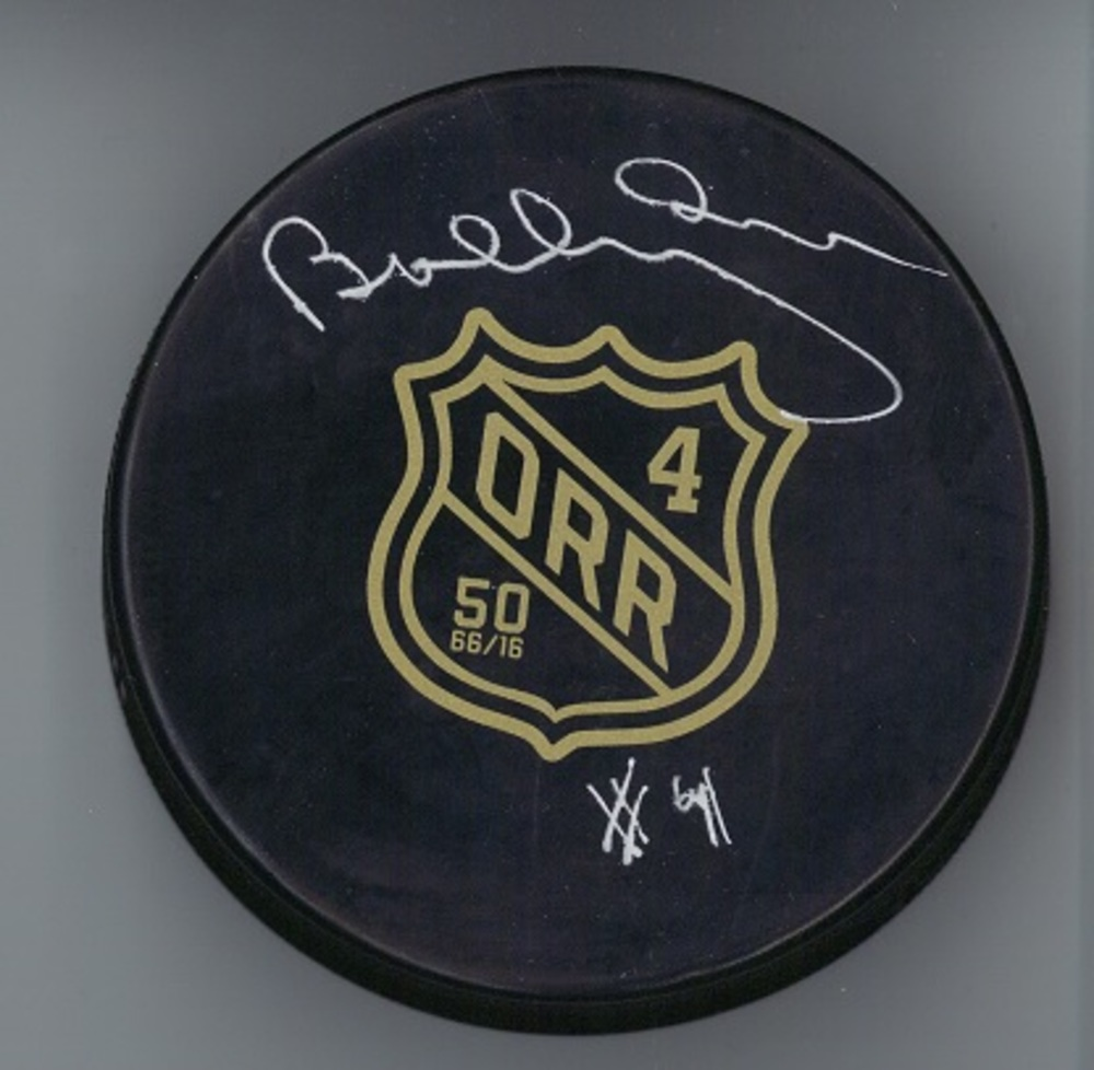 Bobby Orr - Signed Rookie Season 50th Anniversary Puck *IMPERFECT SIGNATURE*