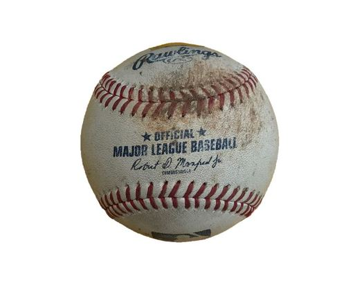 Photo of Game-Used Baseball from Pirates vs. Cubs on 6/16/17 - Williams to Rizzo, Walk