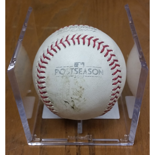 Photo of NLDS Game 5 Game-Used Baseball: Addison Russell 2 RBI Double, Ben Zobrist Single