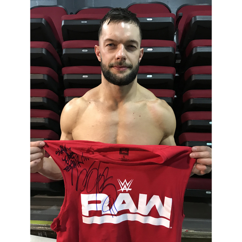 Photo of Finn Bálor WORN & SIGNED T-Shirt (Survivor Series - 11/19/17)