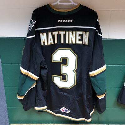 Nicolas Mattinen 2016-2017 Black Game Jersey