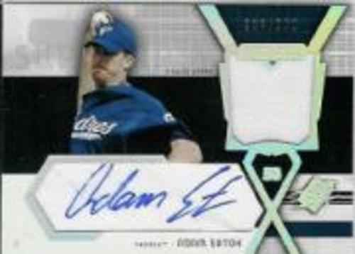 Photo of 2004 SPx Swatch Supremacy Signatures Young Stars #AE Adam Eaton