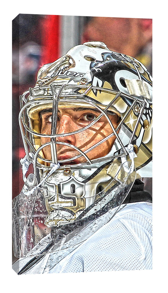 Fleury,MA Unsigned 7x15 Canvas Penguins