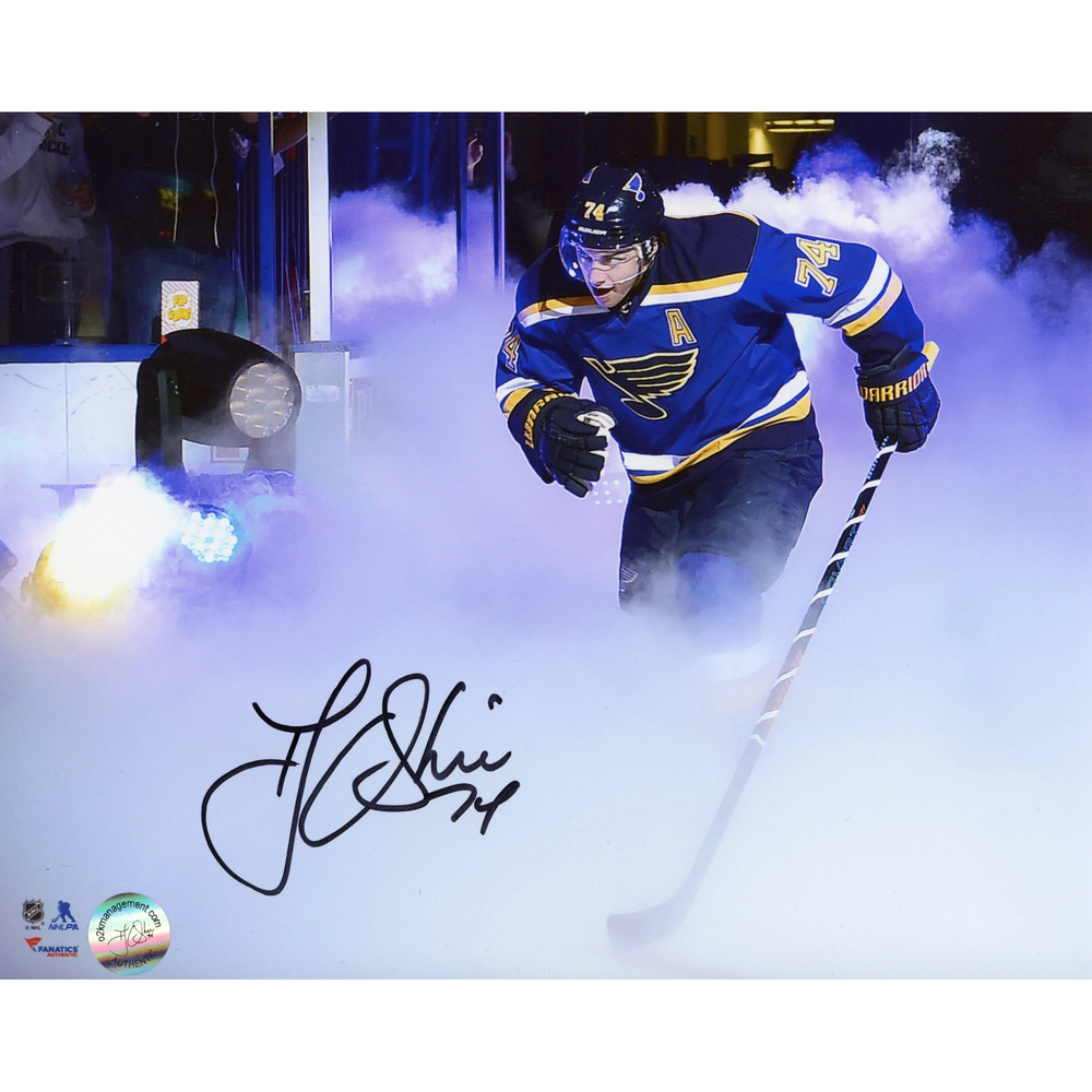 T.J. Oshie St. Louis Blues Autographed Skating Through Smoke 8