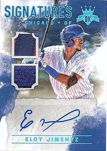 Photo of 2017 Diamond Kings DK Signatures Holo Blue #16 Eloy Jimenez AUTO PATCH 6/25