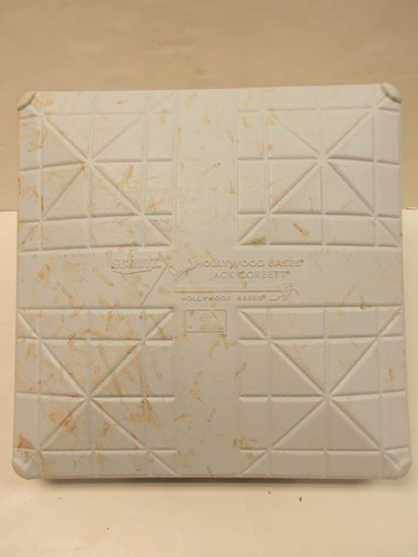 Photo of Game-Used 1st Base: Indians Win 21st and 22nd Consecutive Game (Longest Streak in American League History)