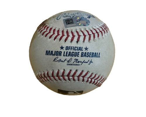Photo of Game-Used Baseball from Pirates vs. Dodgers on 8/21/17 - Cole to Turner, Single