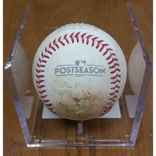 Photo of NLDS Game 5 Game-Used Baseball: Kyle Schwarber Single