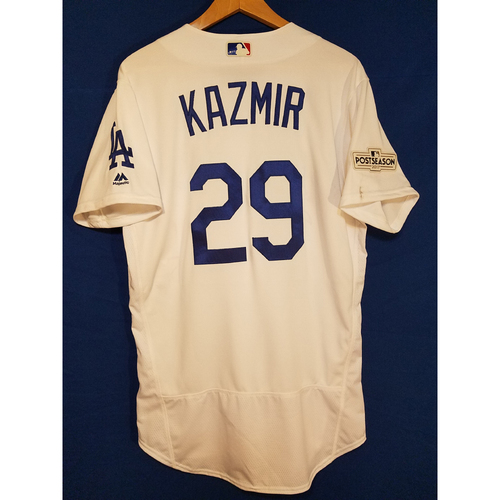 Photo of Scott Kazmir Home 2017 Team-Issued Post Season Jersey