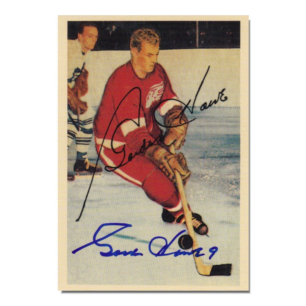 Gordie Howe Autographed Detroit Red Wings Parkhurst Reprint Card