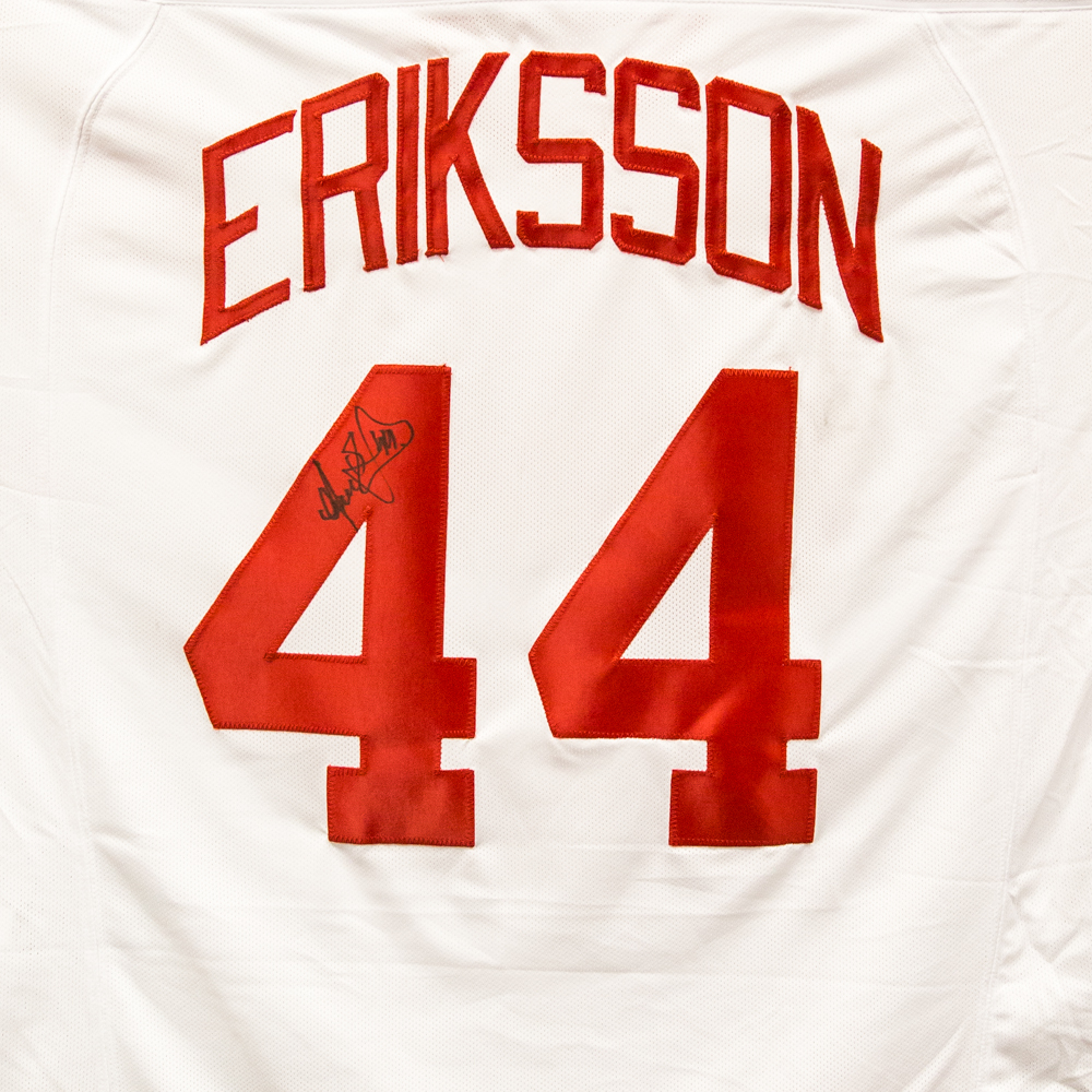 Autographed Anders Eriksson Jersey from Nicklas Lidstrom Jersey Retirement Night - Detroit Red Wings