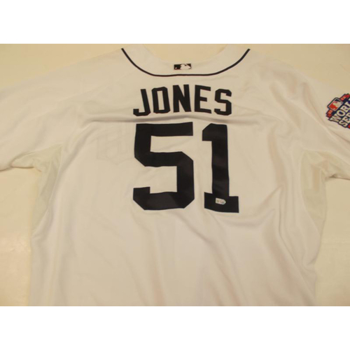 Photo of Jeff Jones Home Jersey with World Series 2012 Patch