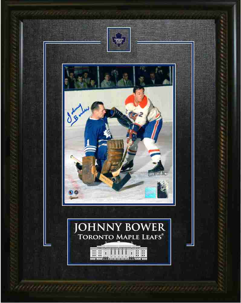 Johnny Bower - Signed & Framed 8x10