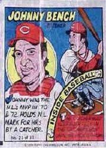 Photo of 1979 Topps Comics #21 Johnny Bench