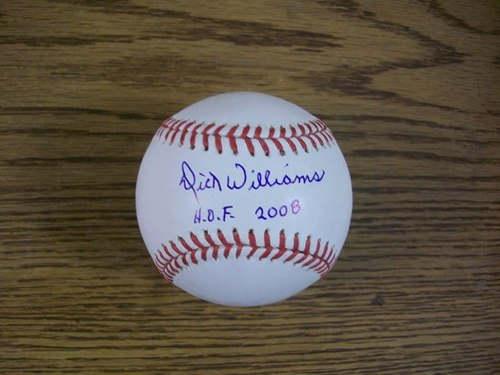 "Photo of Dick Williams ""HOF 2008"" Autographed Baseball"