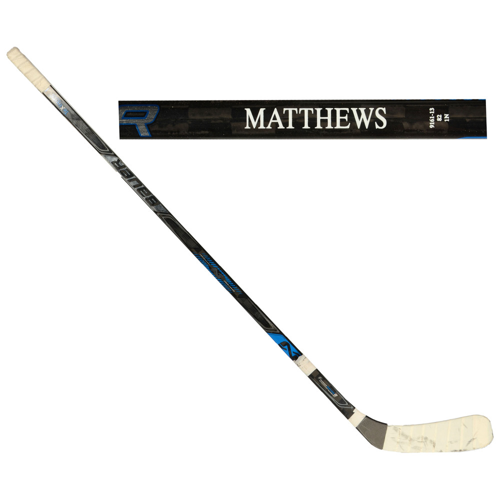 Auston Matthews Toronto Maple Leafs Team North America 2016 World Cup of Hockey Tournament-Used Bauer Nexus 1N Broken Hockey Stick