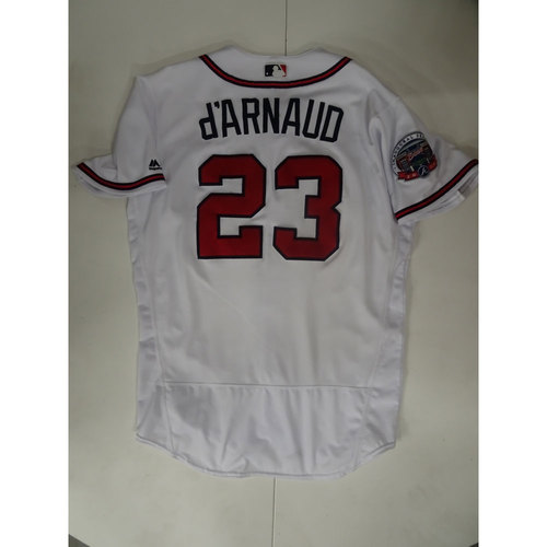 Photo of Chase d'Arnaud Game-Used Jersey Worn on Opening Day at SunTrust Park - April 14, 2017