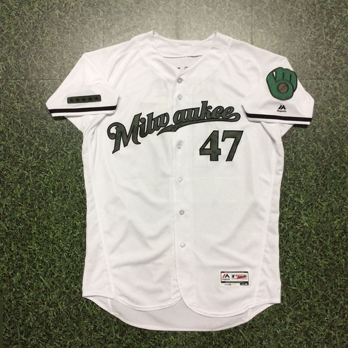 Photo of Jett Bandy Memorial Day Tribute Game-Used Jersey - 3-Run Double (05/27)
