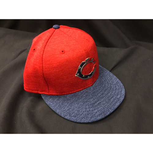 Photo of Eugenio Suarez -- Game-Used Cap from Reds @ Rockies on July 4, 2017
