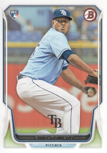 Photo of 2014 Bowman #217 Enny Romero Rookie Card -- Nationals post-season