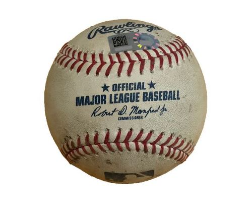 Photo of Game-Used Baseball from Pirates vs. Dodgers on 8/22/17 - Taillon to Forsythe, 2 Pitches