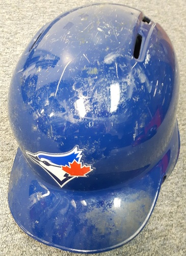 Photo of Authenticated Game Used Helmet - #18 Darwin Barney. Size 7 1/4.
