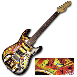 Don Cherry Autographed Boston Bruins Limited-Edition Woodrow Guitar