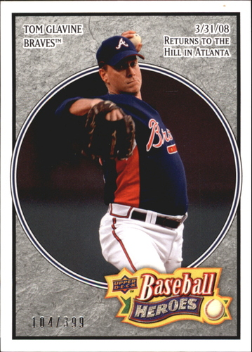 Photo of 2008 Upper Deck Heroes Charcoal #8 Tom Glavine