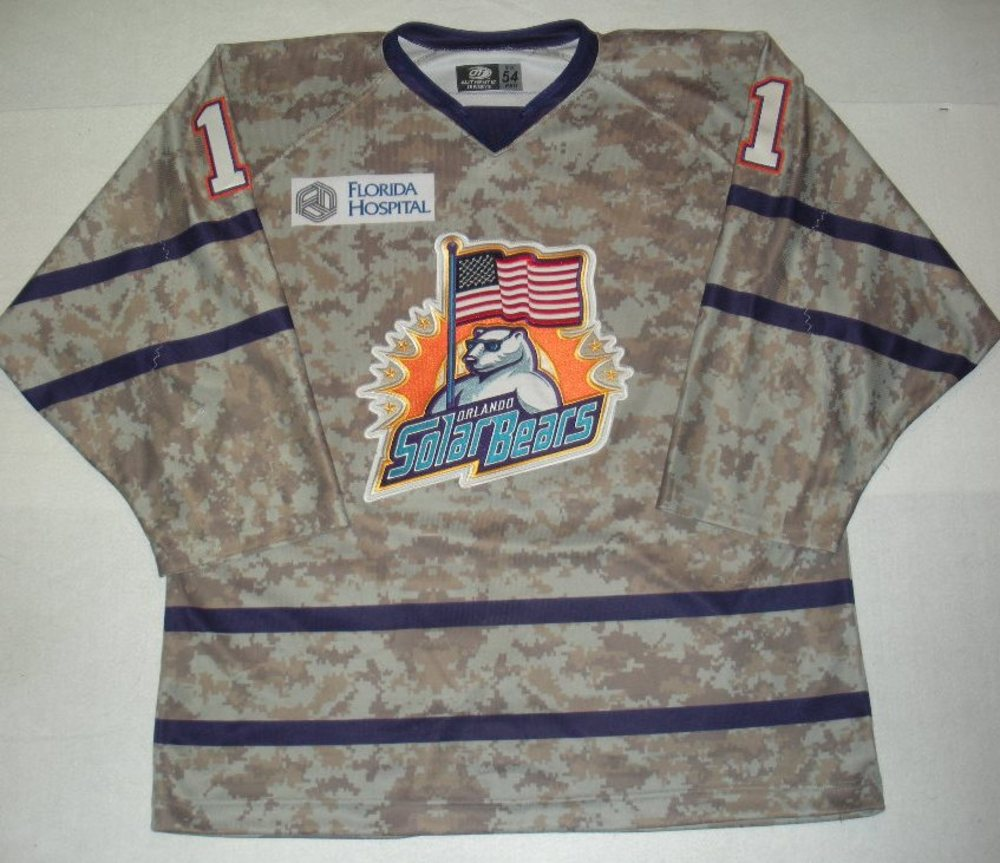 Orlando Solar Bears - Tyler Murovich - Military Appreciation Night Camo Game-Worn Jersey