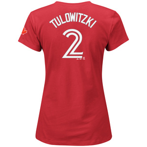 Women's Troy Tulowitzki Player T-Shirt Red by Majestic